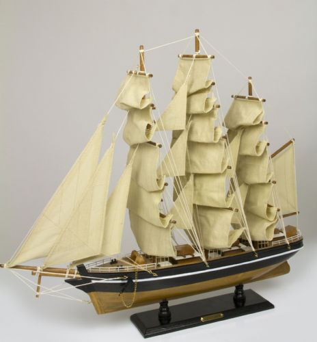 Cutty Sark Display Model Clipper Ship Assembled including Stand 55cm
